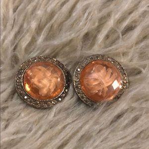 Gorgeous vintage unique coral  statement earrings